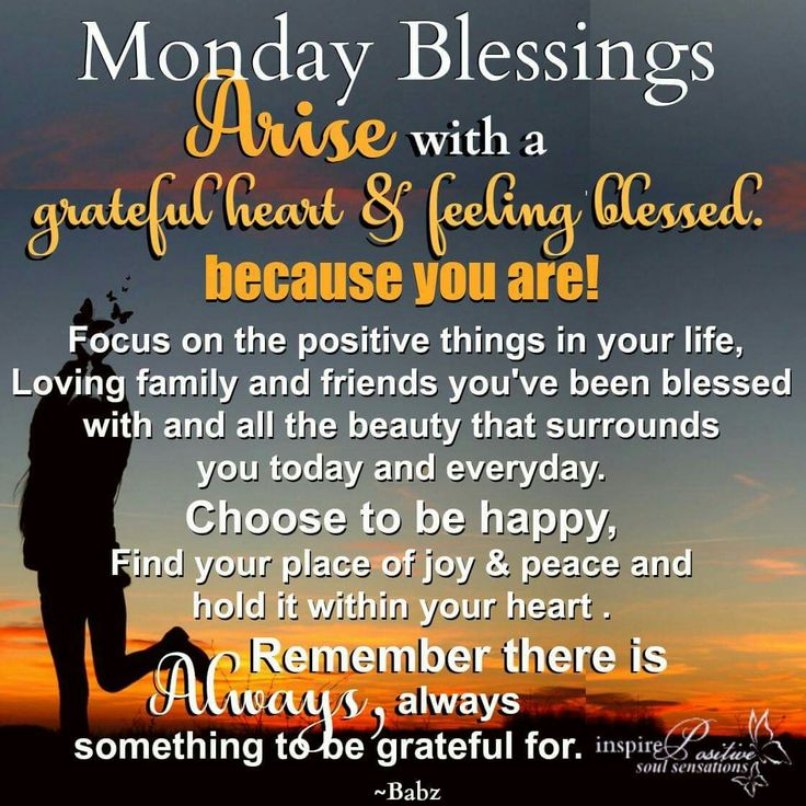 Blessings Quotes: Best 25+ Monday Blessings Ideas On Pinterest