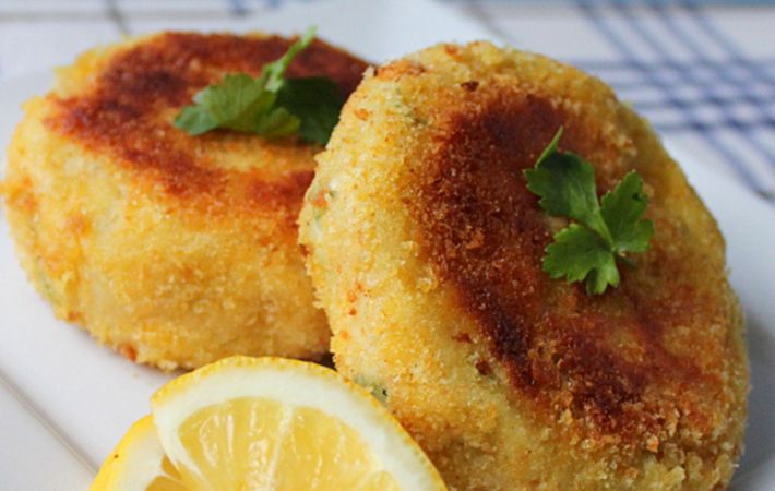 Cod fish cakes may be simple, but are ever so tasty and a great way to use up leftover potatoes.