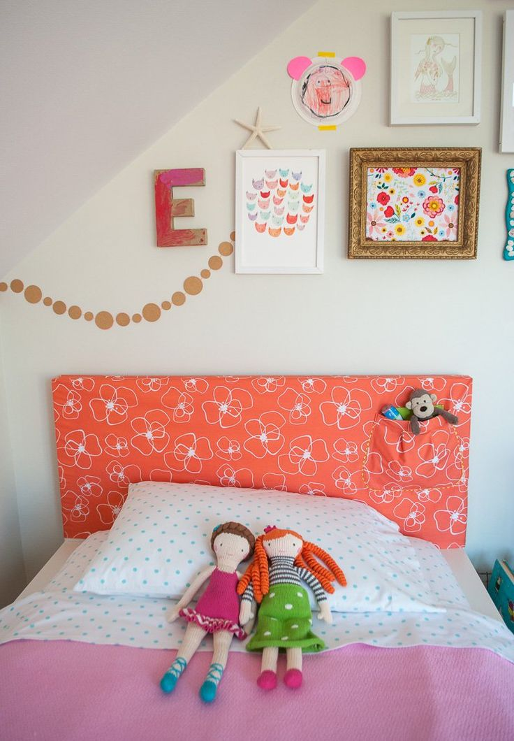 How to make a headboard slipcover with storage pocket - IKEA hack