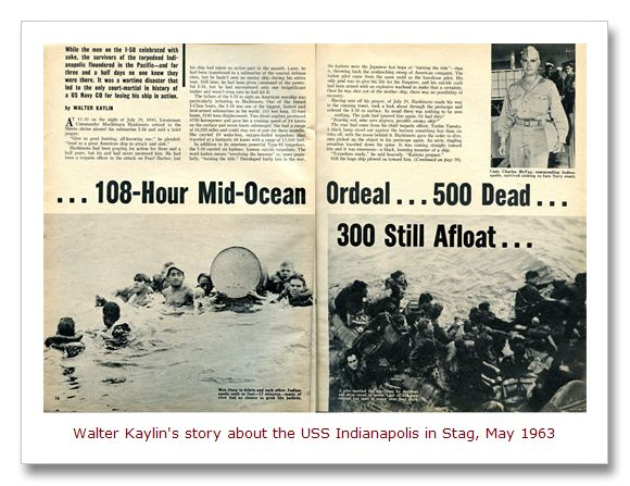 1963 article in Stag magazine about the USS Indianapolis