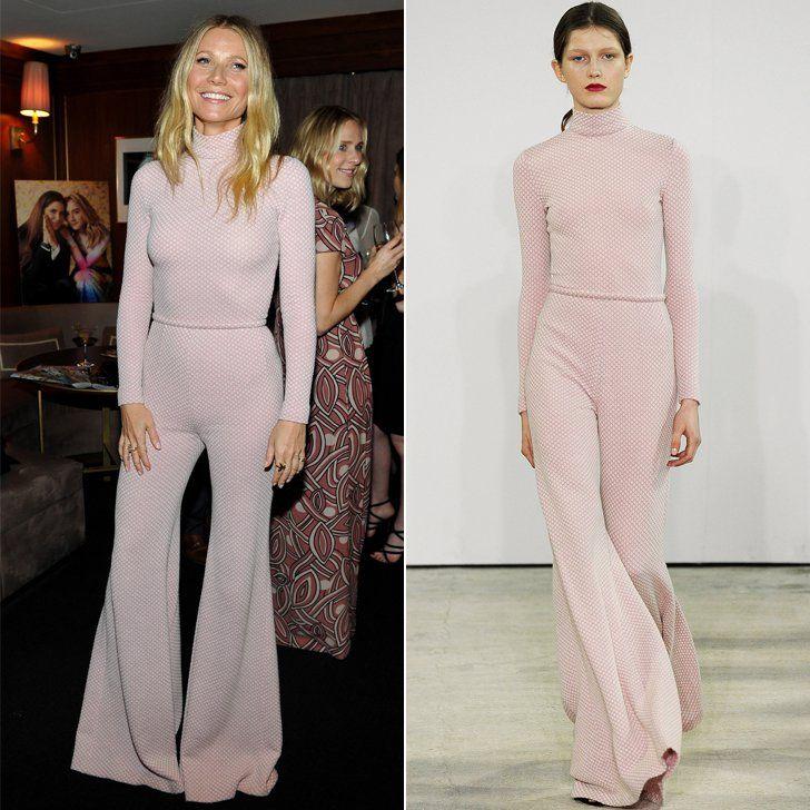 Pin for Later: Diese Stars konnten es nicht erwarten und tragen schon jetzt die Herbst/Winterkollektionen Gwyneth Paltrow in Emilia Wickstead Herbst/Winter 2016
