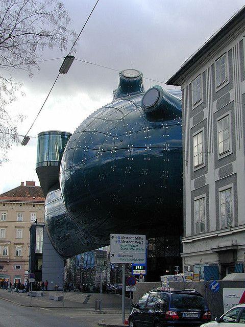 Kunsthaus Graz or Graz Art Museum (contemporary art), Graz, Austria by  identity chris is, via Flickr
