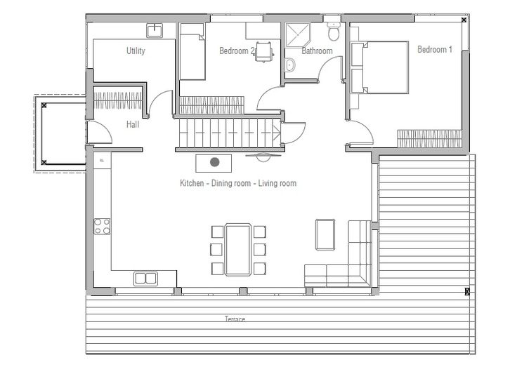 Charming Small House Plan CH52
