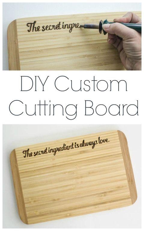 DIY custom cutting board tutorial, Mother's Day gift idea, wedding gift idea, hostess gift idea #worldmarkettribe #sponsored