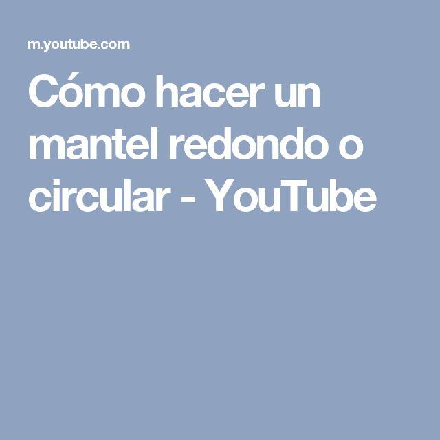 Cómo hacer un mantel redondo o circular - YouTube