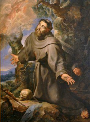 «Saint François d'Assise recevant les stigmates» par Pierre-Paul Rubens