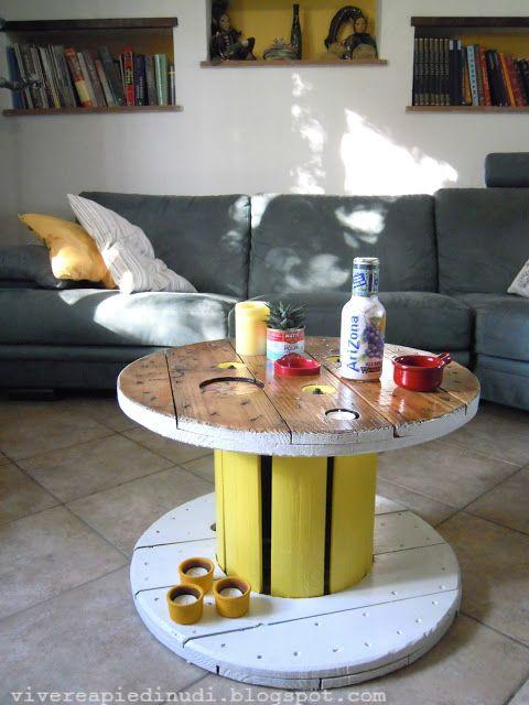 Vivere a piedi nudi living barefooted: Da bobina per fili elettrici a tavolino da caffè