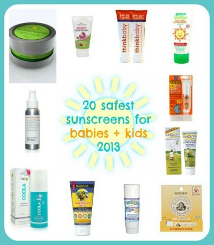 20 safest sunscreens made specifically for kids + babies