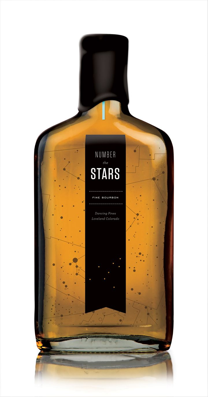 Uinta Brewing, The Tenfold Collective: Food Packaging, Bourbon Packaging, Number The Stars, Bottle Packaging, Packaging Design, Dance Pine, Products Design, Numbers The Stars, Bottle Design
