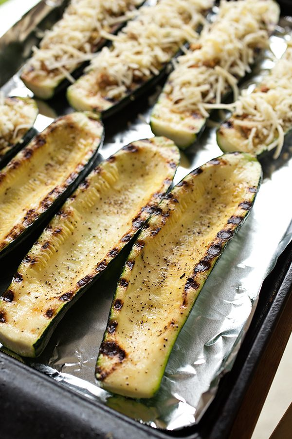 Cheesy Italian Grilled Zucchini Boats, and Floating Along On The ...