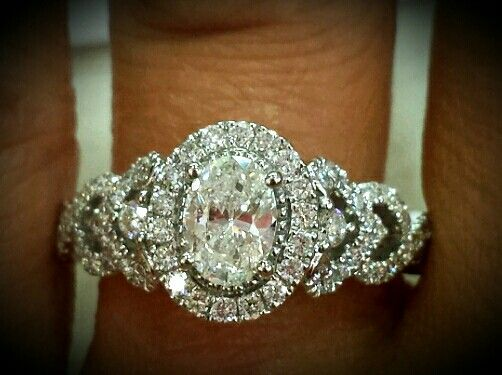 Oval Vera Wang engagement ring from Zales!