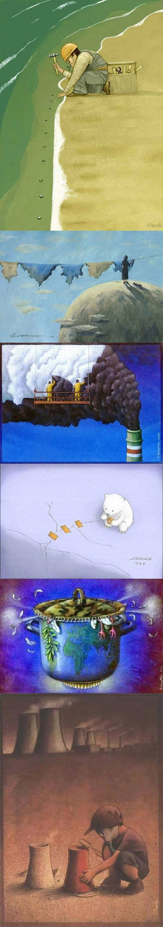 Magnificent Illustrations To Think About Climate Change