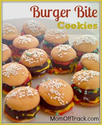 Super easy and fun to make with kids. Burger Bite Cookies | Easy and Fun Cookie Recipe | No Bake Cookies
