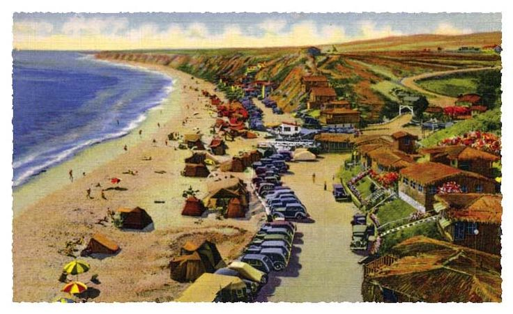 Crystal Cove State Park Historic District. 12 acres with rental cottages, education, museum shacks, Beachcomber café. Pay $15 to park at Los Trancos lot off PCH and walk down path thru tunnel or pay $1 to hop shuttle bus. FREE tour every 2nd Saturday 10a of 12 acres. to make cottage reservations visit reserveamerica.com or call 800 444 7275