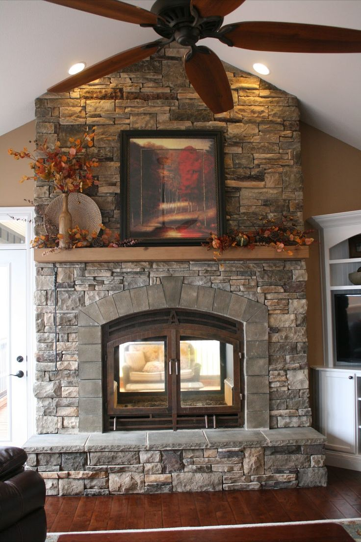 Best 25+ Stone veneer fireplace ideas only on Pinterest | Stone ...