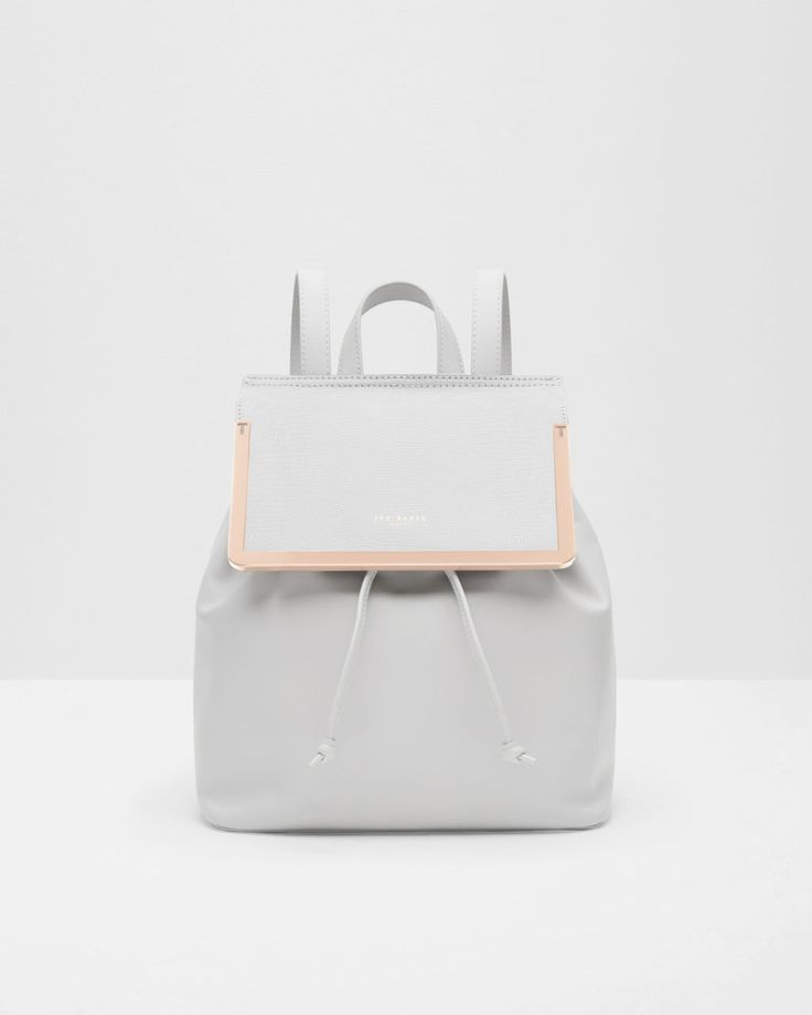 Textured leather backpack - Ash | Bags | Ted Baker AU