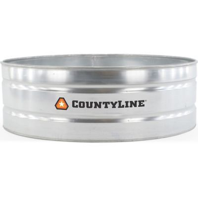 CountyLine Round Galvanized Stock Tank, 6 ft. W x 2 ft. H, 390 gal. Capacity