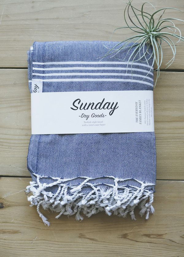 Sunday Dry Goods - The Everyday Family Towel, Navy from Charlie