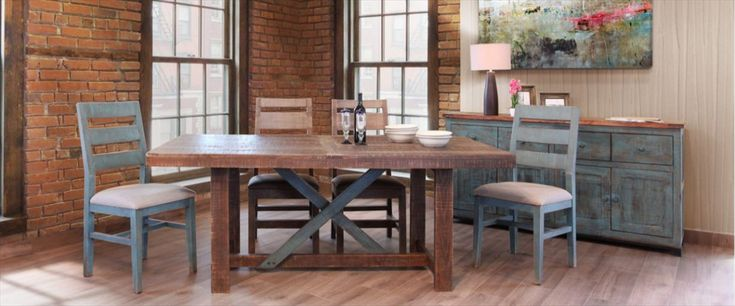 fascinating-rustic-dining-room-table-sets-reclaimed-wood-counter-height-table-wooden-dining-table-four-chairs-buffet-painting-bottle-glass-bowls-lamp-vas-flower-pictures-wooden-floor