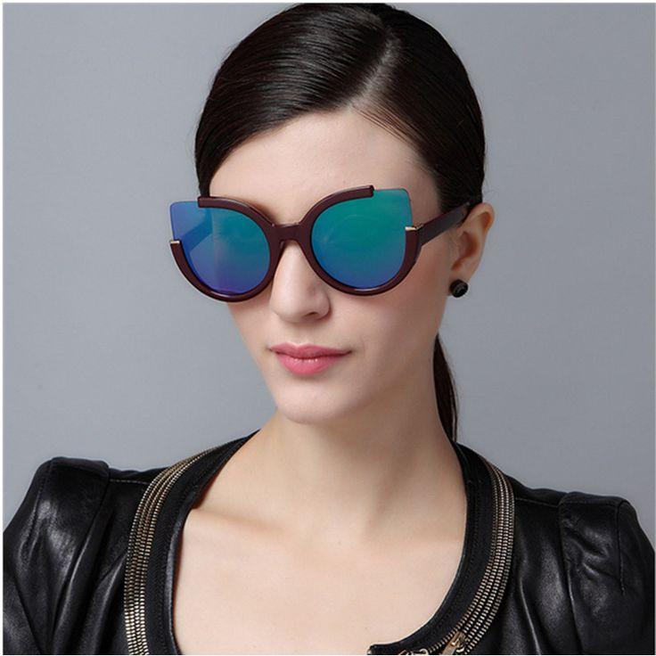 >> Click to Buy << Semi-Rimless Cat eye Cateye Big Brand Designer Women Sun Glasses Female Mirror Sunglasses For Ladies Gafas Retro Oculos UV400 #Affiliate