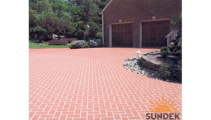 Classic Herringbone Brick Driveway
