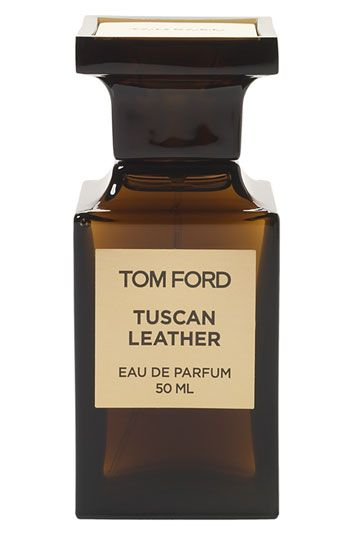 Tom Ford Private Blend 'Tuscan Leather' Eau de Parfum-A chypre blend of notes brings a raw yet reserved sensuality to this original take on a classic leather scent. Saffron, raspberry and thyme open to olibanum and night-blooming jasmine. Leather, black suede and amber wood add an intricate richness.