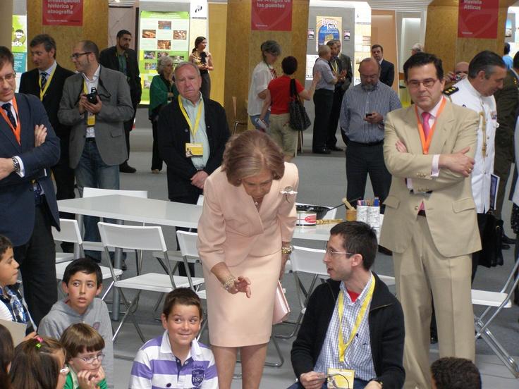 SM la Reina Sofía también estuvo con @museoscastyleon