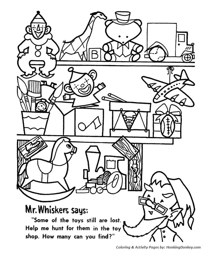 The toy that saved christmas coloring pages ~ Christmas Hidden Objects Activity Sheet | Christmas ...