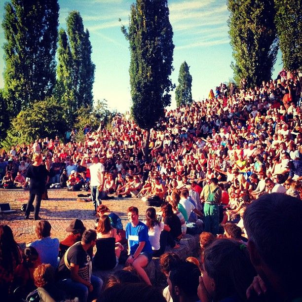 Bear pit karaoke, sundays at Mauerpark. Also flea market.