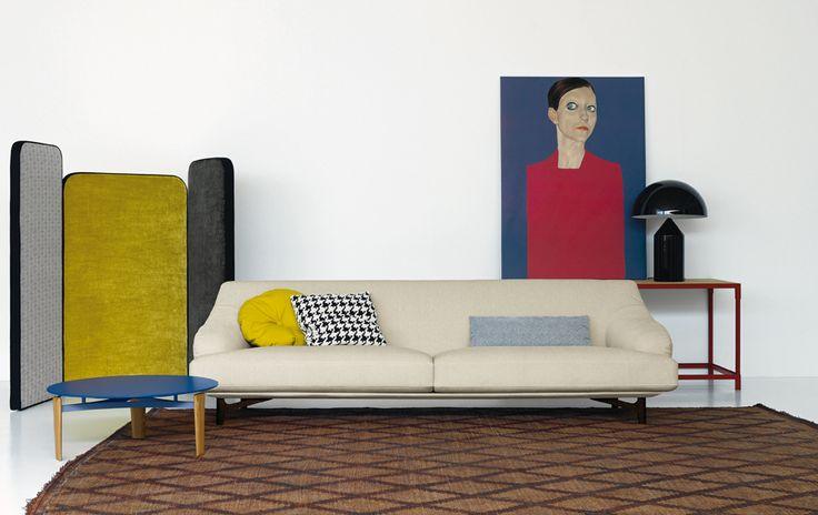 """Salón creado con el sofá """"Candy"""" y el biombo """"Diva""""."""