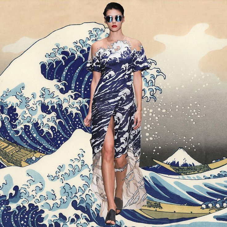 Pictures of Models with the Artwork that Inspired the Fashion Designer – Fubiz Media