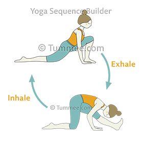crescent low lunge hamstring stretch flow yoga