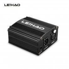 LEIHAO 48V Phantom Power Supply with Adapter XLR Cable