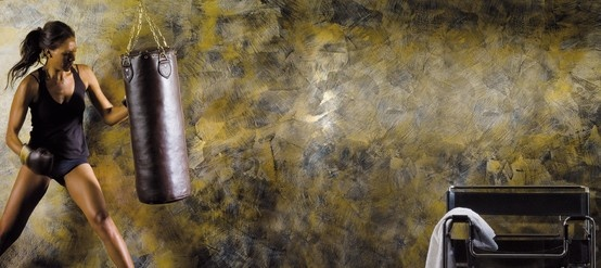 Seduzioni, dato dall'unione fra Spirito Libero e Collezione di Gioia, caratterizza le tue pareti son innumerevoli effetti multicolore. La parete giusta per la #palestra e per lo spazio #fitness per darti la carica. #giorgiograesan #spiritolibero #decorazione #casa #design
