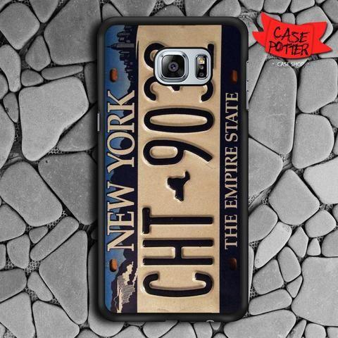 Nyc New York License Plate Samsung Galaxy S7 Edge Black Case