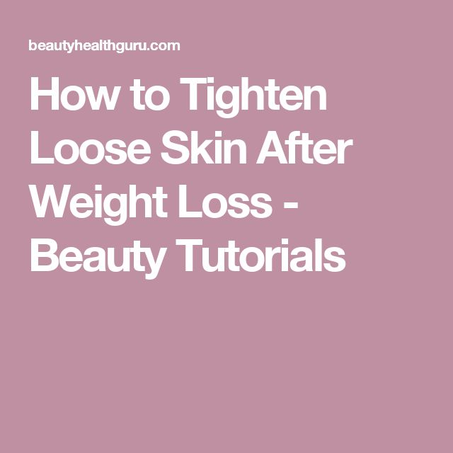 how to lose weight and not have loose skin