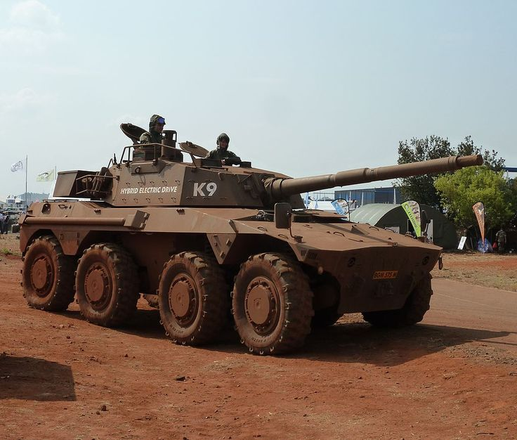 Two versions exist. 1. The Rooikat 76 armoured fighting vehicle, with a 76mm gun. 2. Rooikat 105: In 1990 an upgrade and redesign programe, & by 1994 the development of the Rooikat 105 variant with a 105mm rifled gun was completed.