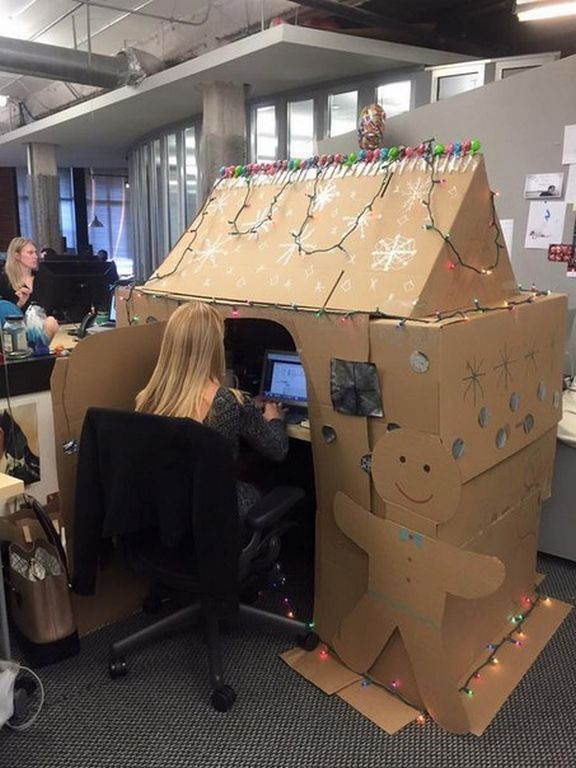Decorating your work desk for the holidays? Why not! LOL!