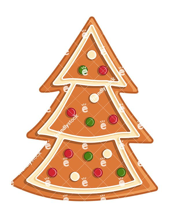 Gingerbread Christmas Tree Cartoon Clipart Vector Friendlystock Gingerbread Christmas Tree Christmas Vectors Christmas Tree Cookies