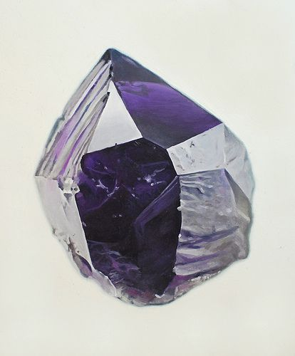 Amethyst. By carlybird.: Mineral, Art, Stone, Rock, Gem, Painting