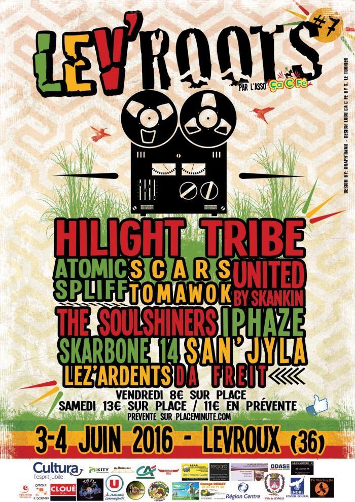 Lev'Roots #7, Levroux, Stade, Route de Buzançais, Vendredi 3 Juin 2016, 20h00, Samedi 4 Juin 2016, 20h00