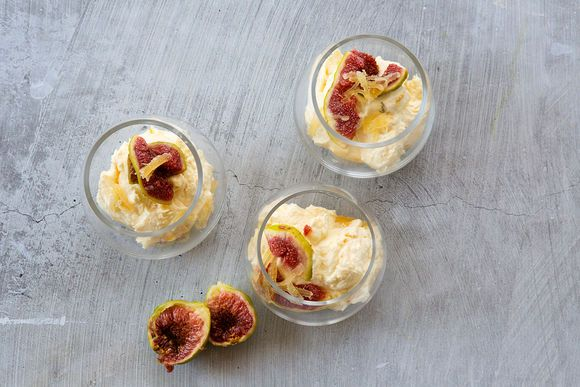 Lemon Thyme Mascarpone Mousse with Fresh Figs - Maggie Beer