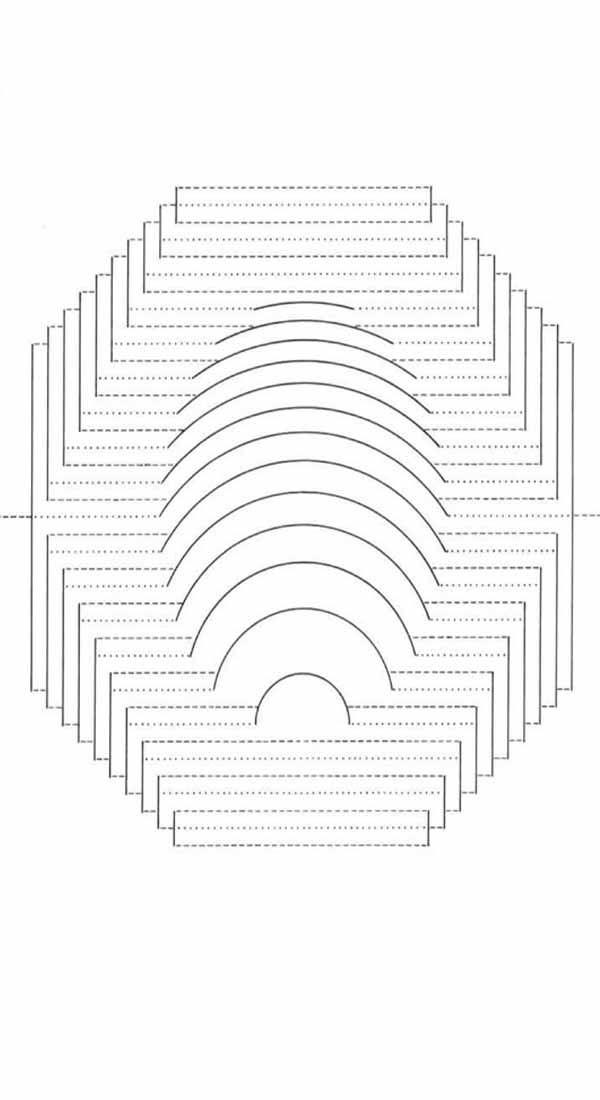 Киригами схема Кубическая пирамида