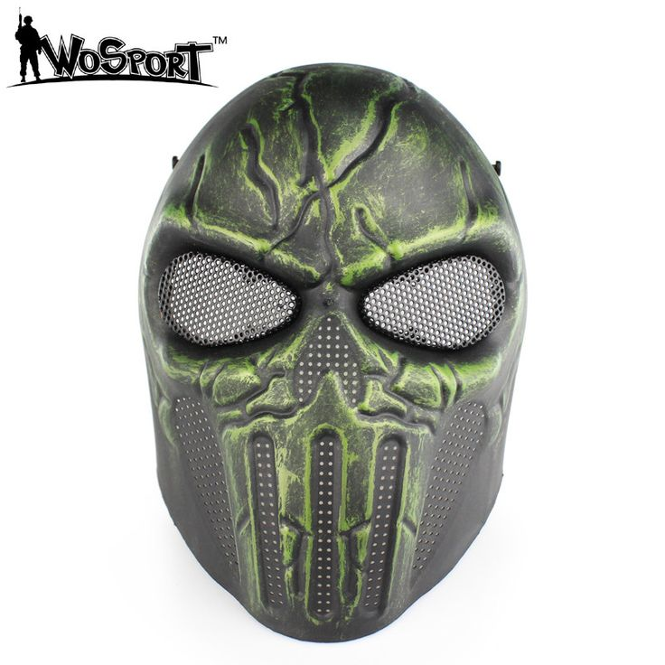 WosporT Punisher Paintball Hunting Accessories Outdoor Military CS Wargame Full Face Mask
