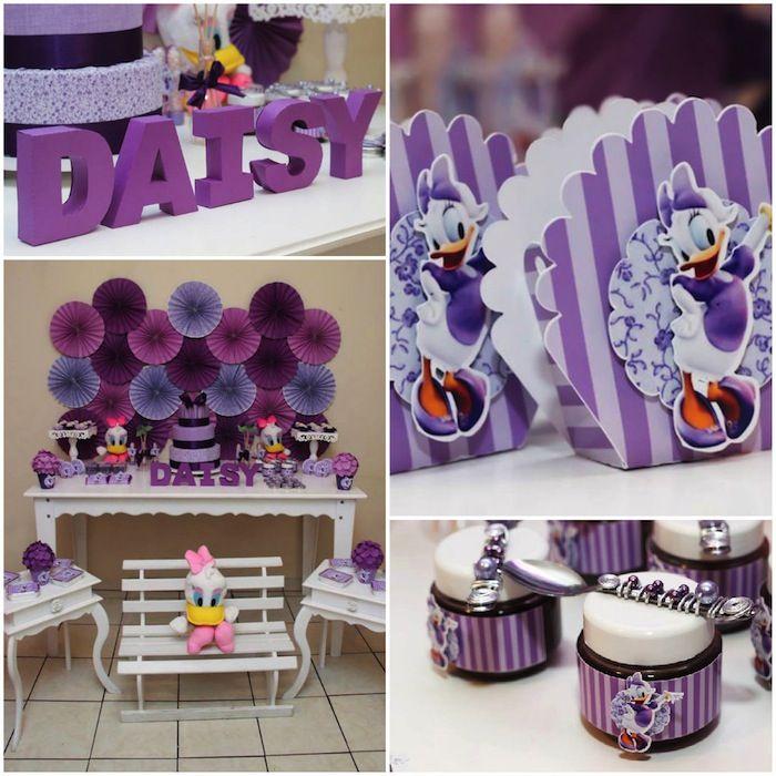 Daisy Duck themed birthday party