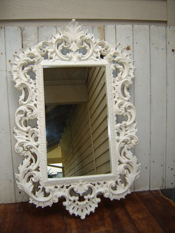 Ornate French Country White Romantic Victorian Framed