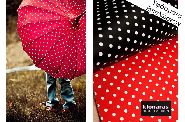 #textiles #dots #red #black  #decoration #deco #home