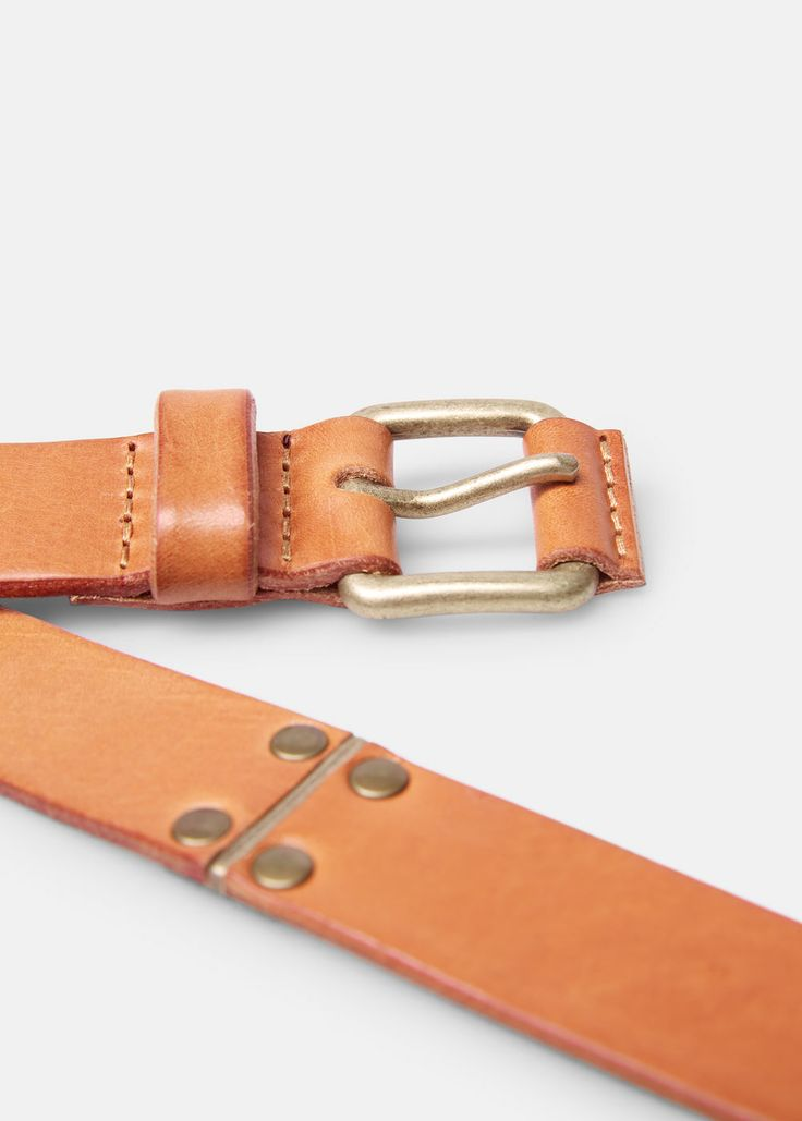 Cinturón piel hebilla - Cinturones de Hombre | MANGO Man España