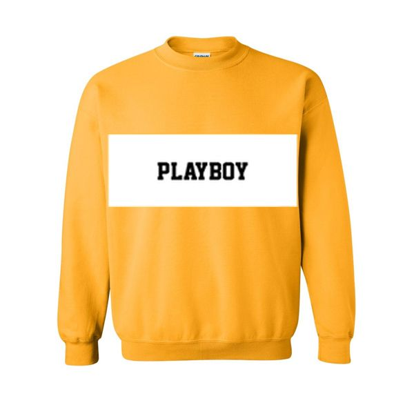 playboy yellow sweatshirt
