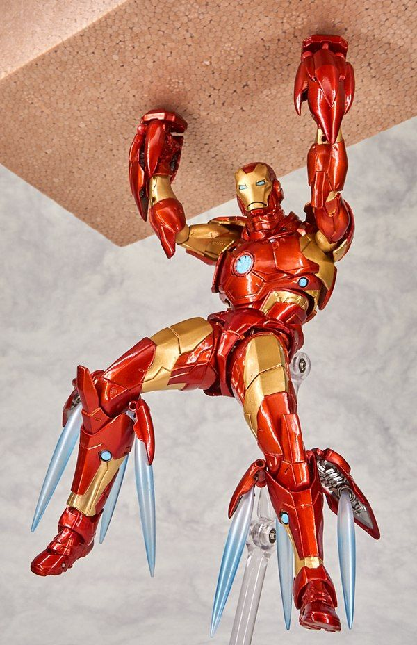 New Marvel Amazing Yamaguchi Revoltech Bleeding Edge Armor Iron Man Figure Images Iron Man Marvel Legends Action Figures Marvel Action Figures